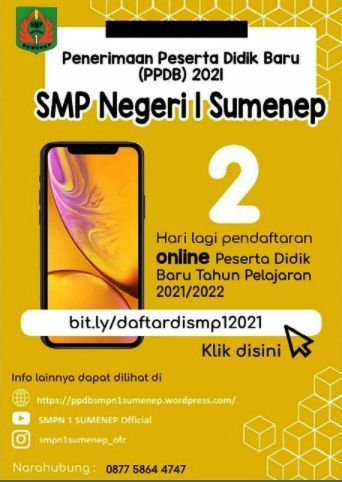 PPDB Online SMPN 1 Sumenep
